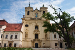 Rajhrad Benediktine Monastery, Czech Republic Royalty Free Stock Photography