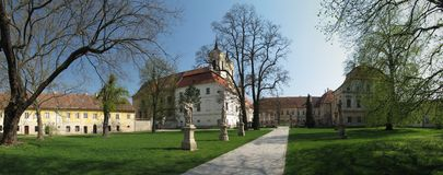 Rajhrad - monastery. Stock Photography