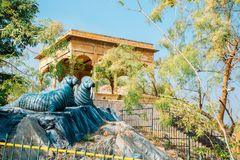 Rajiv Gandhi park w Udaipur, India zdjęcie royalty free