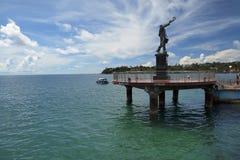 Rajiv Gandhi Statue på den Aberdeen bryggan, Port Blair Fotografering för Bildbyråer