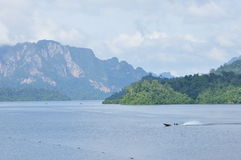 Rajjaprapha Dam in Surat Thani, Thailand Royalty Free Stock Image
