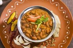 Rajma或红色扁豆 库存图片