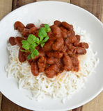 Rajma Chawal Royalty Free Stock Images
