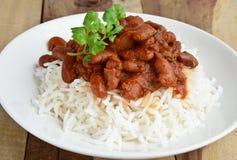 Rajma Chawal. Indian dish Rajma served with chawal(Rice Stock Images