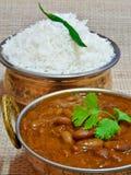 Rajma Chawal or Rice. Indian dish Rajma served with chawal(Rice Stock Image