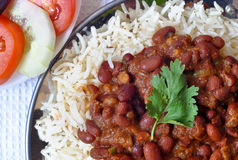 Rajma Chawal or Rice Royalty Free Stock Image