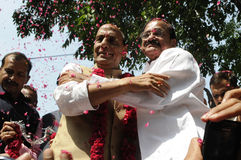 Rajnath Singh and Venkaiah Naidu . Stock Photo