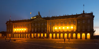The Rajoy Palace (Palacio de Rajoy)  in evening Royalty Free Stock Photos
