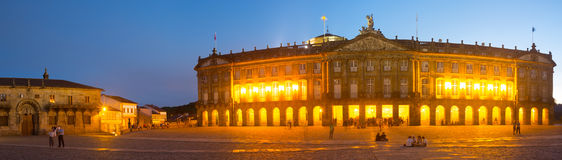 Rajoy Palace (Palacio de Rajoy)  in evening Stock Photography