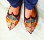 Rajpoot jutti & x28; shoe& x29; zdjęcie stock