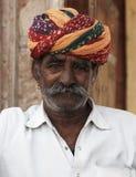 Pushkar, India, Rajput man wearing a pagri turban. Portrait of a Rajput Man, Rajasthan, India Royalty Free Stock Image