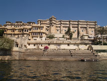 Rajput style City Palace by Lake Pichola Stock Images
