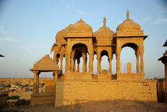 Rajput tombs, Rajasthan. Rajput tombs in Jaisalmer in Rajasthan, India Royalty Free Stock Photography