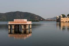 Rajputana Architecture of Jal Mahal Royalty Free Stock Photography