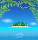 Raju oceanu tropikalna wyspa Zdjęcia Royalty Free