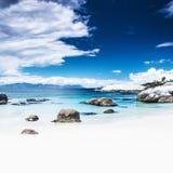 Raju plażowy tło zdjęcia stock
