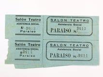 Raju teatru bilety spanish cywilna wojna zdjęcia stock