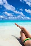 Raju wakacje na tropikalnej plaży Obrazy Royalty Free