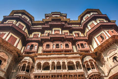 Rajwada Palace Indore. Rajwada is a historical palace in Indore city. It was built by the Holkars of the Maratha Empire about two centuries ago Stock Images