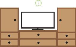 Rak dan televisi royaltyfri illustrationer