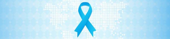 Rak prostaty kampanii informacyjnej pojęcie Listopadu miesiąc Royalty Ilustracja