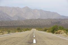Rak rutt 40 och berg, nord av Argentina Arkivbilder