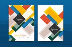 Raka linjer geometriska mallar för affärsrapport Arkivfoton