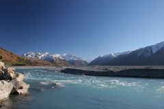 Rakaia River, Canterbury New Zealand Stock Image