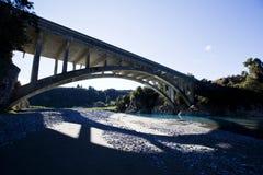 Rakaia-Schlucht-Brücke über 77 Lizenzfreies Stockfoto