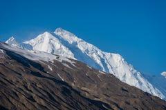 Rakaposhi halny szczyt, ikonowy szczyt Hunza dolina w mornin Obraz Stock