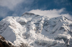 Rakaposhi or snow covered in the Himayalas Royalty Free Stock Photography