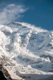 Rakaposhi or snow covered in the Himayalas Royalty Free Stock Photos