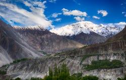 Rakaposhi-Spitzen-Bergauf dem weg pakistain Stockbilder