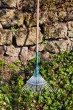 Rake gardening tool Stock Image