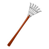 Rake isolated illustration Stock Images