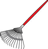 Rake, pick up trash Royalty Free Stock Image