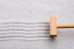 Rake Sand Stock Photo
