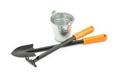 Rake, shovel, bucket Stock Images