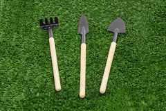 Rake and shovel Stock Image