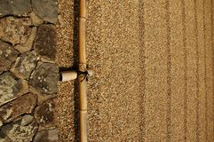 Raked sand border Stock Photography