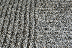 Raked sand garden Stock Photo