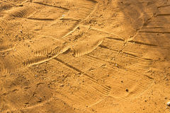 Raked Sand Patterns. In Botswana, Africa Royalty Free Stock Image