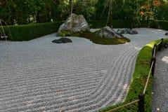 Raked stone garden in Kyoto temple Stock Image