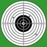 The raked target. Stock Image