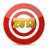 Rakend doel - Nieuwjaar 2013 Royalty-vrije Stock Foto's