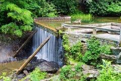 Rakes Mill Pond Dam Stock Photography