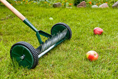 Rakes in orchard Stock Photography