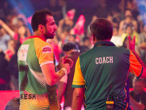 Rakesh Kumar Kabaddi Player Stock Images