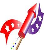 Raket en banner Royalty-vrije Stock Afbeeldingen