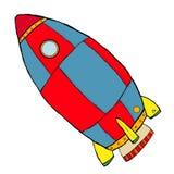 raket för barntecknad filmutrymme stock illustrationer